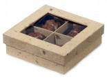 4-Pc Natural Cacao Paper Window Box image