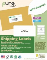 Recycled Blank Shipping Labels image